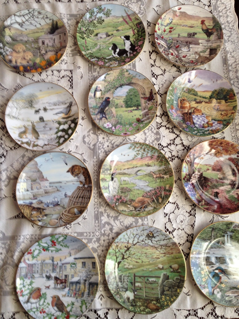 july 2014 unraveling a life the entire set of franklin mint james herriot plates look at this detail